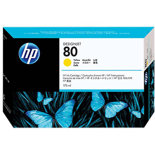 HP 80 - PRINT CARTRIDGE - 1 X YELLOW - 175ML