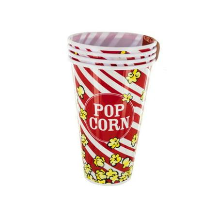 Bulk Buys OF891-16 Red Popcorn Bucket Cups Set, 16 Piece - image 1 de 1