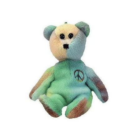 Beanie Babies Jingle Beanie Peace the Tye Dye Bear Beanie Buddy Plush