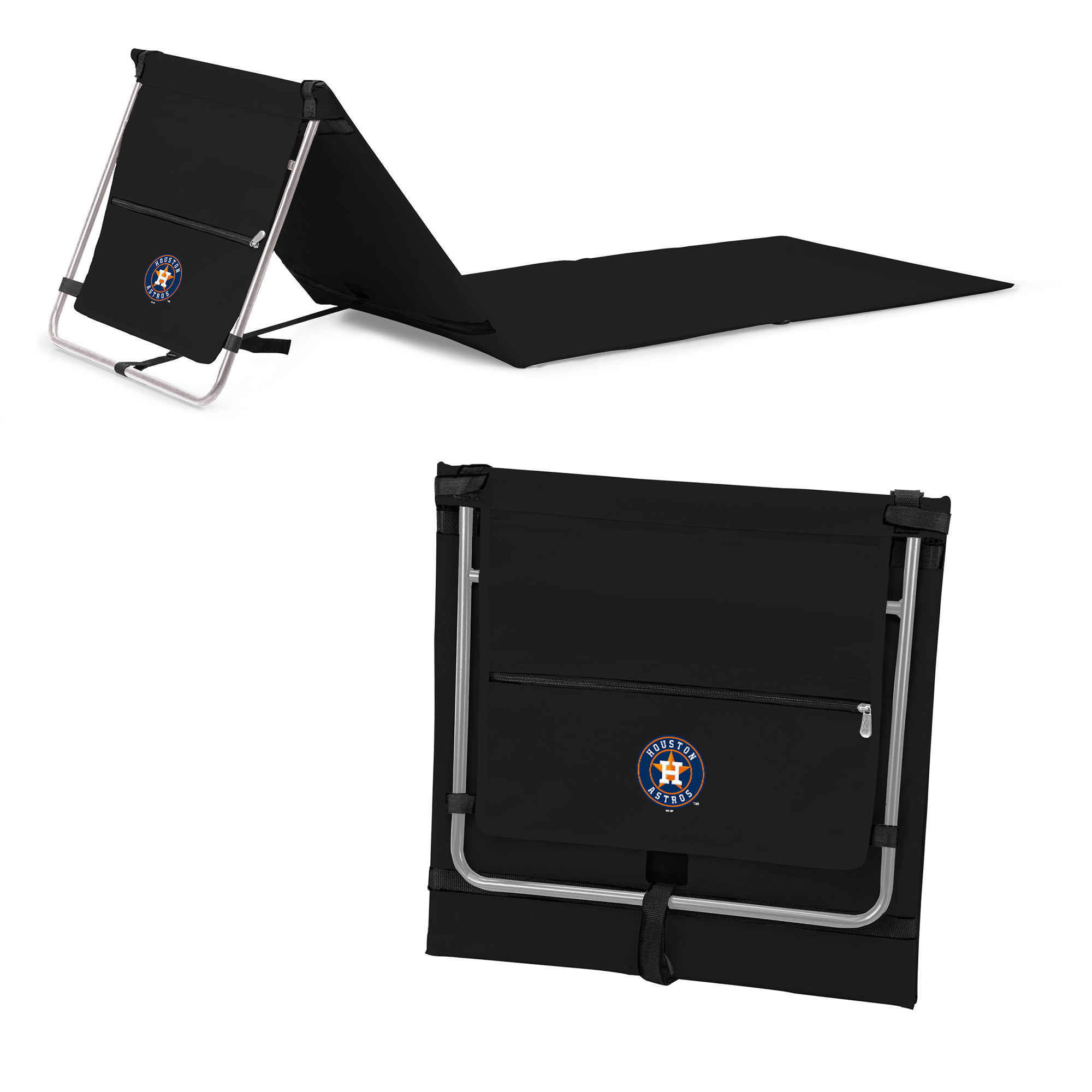 Houston Astros Portable Lounger Beach Mat - Black - No Size