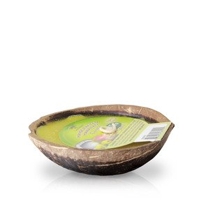 Island Soap Plumeria Blossom - Floating Coconut Bowl Candle