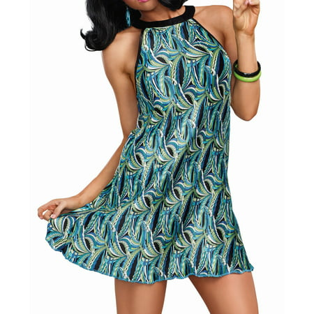 Dreamgirl Women's The Beat Goes On 60's Themed Pleated Costume Dress
