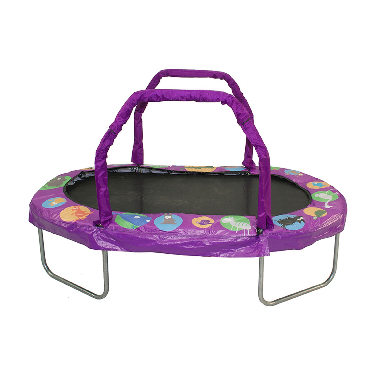 Jumpking Mini Oval 38 x 66 Inch Trampoline, with Handrail, Green