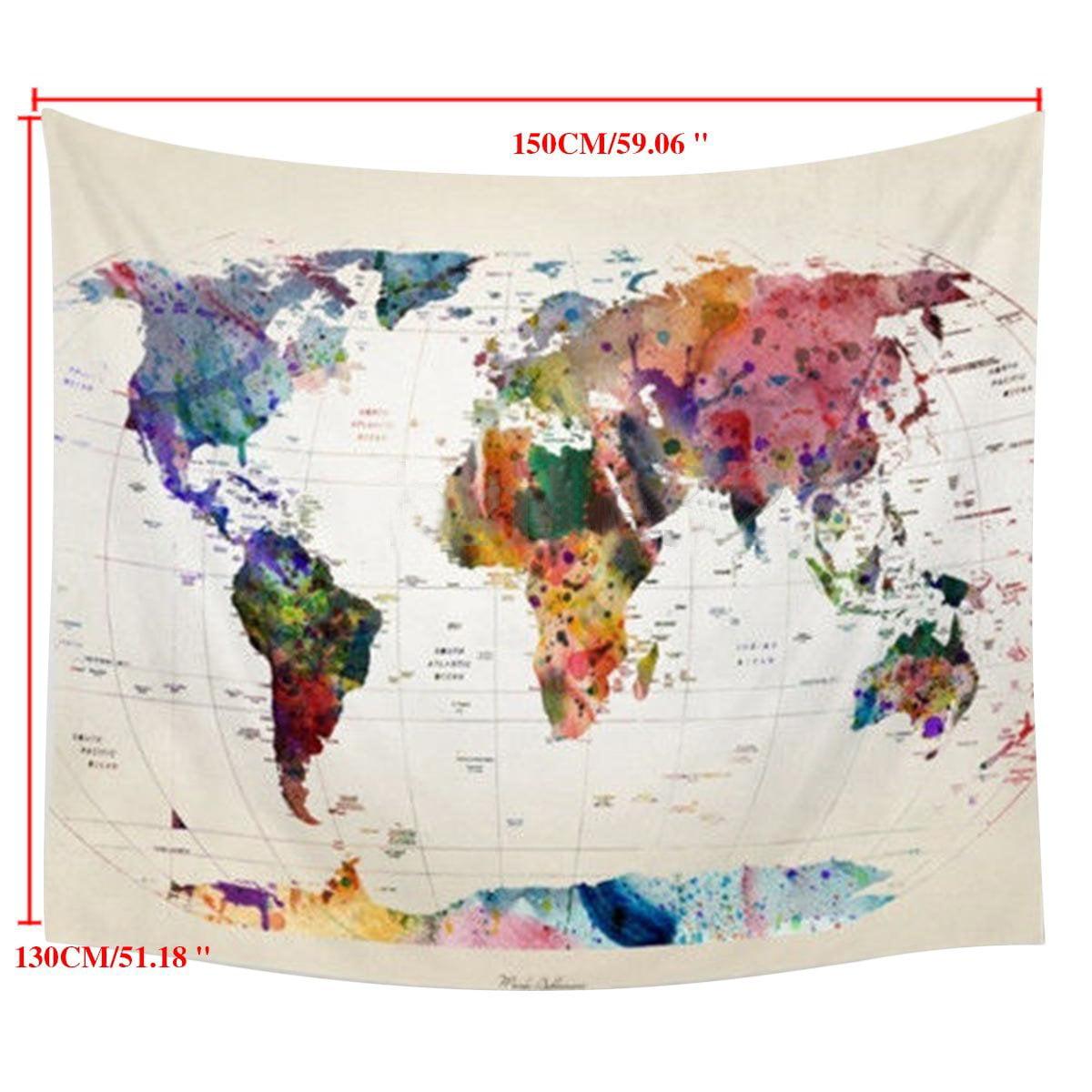 Presyo Ng Pilipinas Painting World Map Tapestry Vintage Home ...