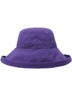 d7372e06 Product Image Women's Cotton Summer Beach Sun Hat with Wide Fold-Up Brim  Black