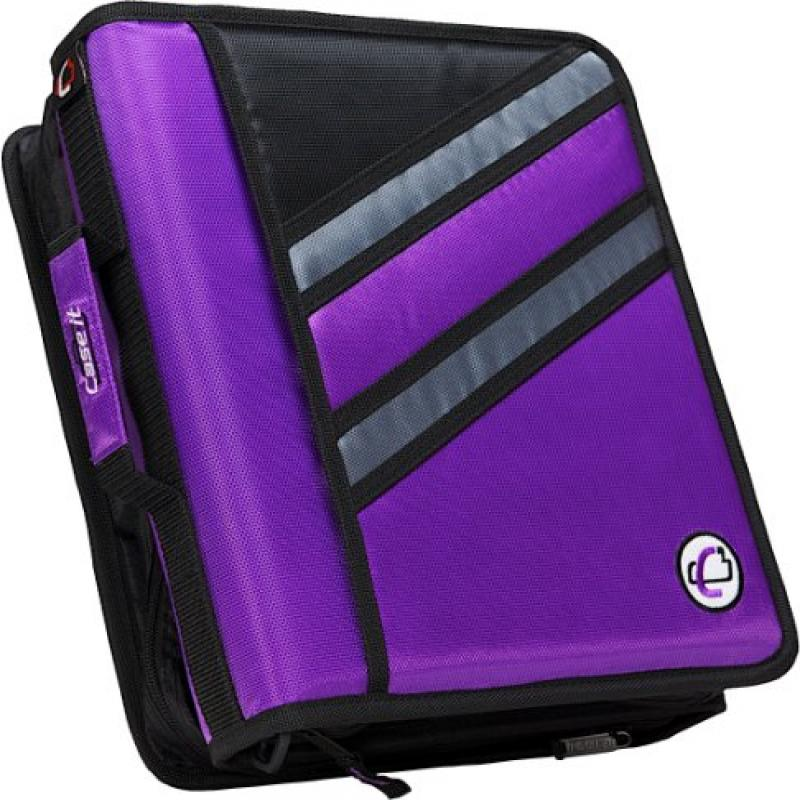 Case It Z-Binder Two-in-One 1.5-Inch D-Ring Zipper Binder...