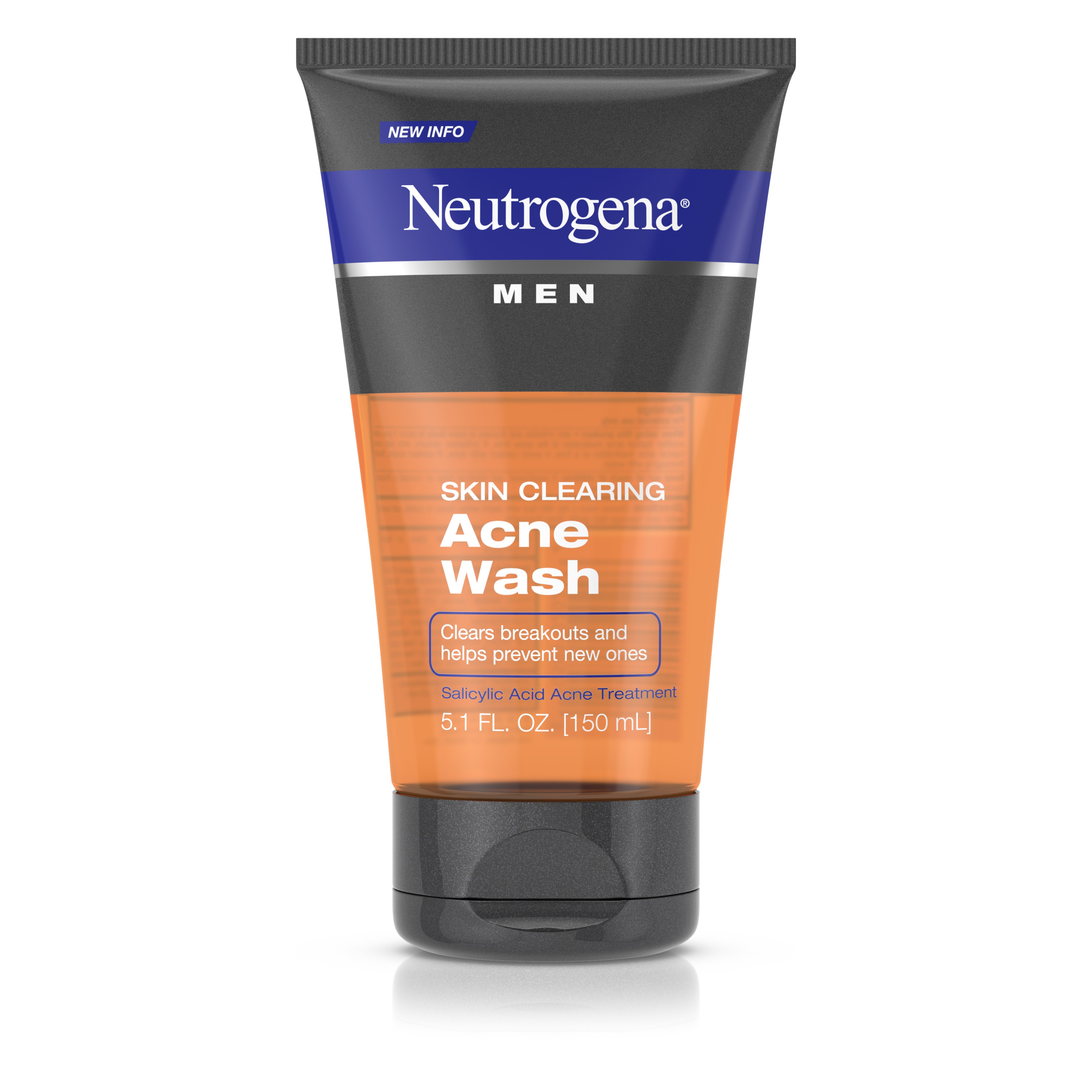 Neutrogena Men Skin Clearing Acne Wash, Salicylic Acid Acne Treatment, 5.1 Fl. Oz - Walmart.com