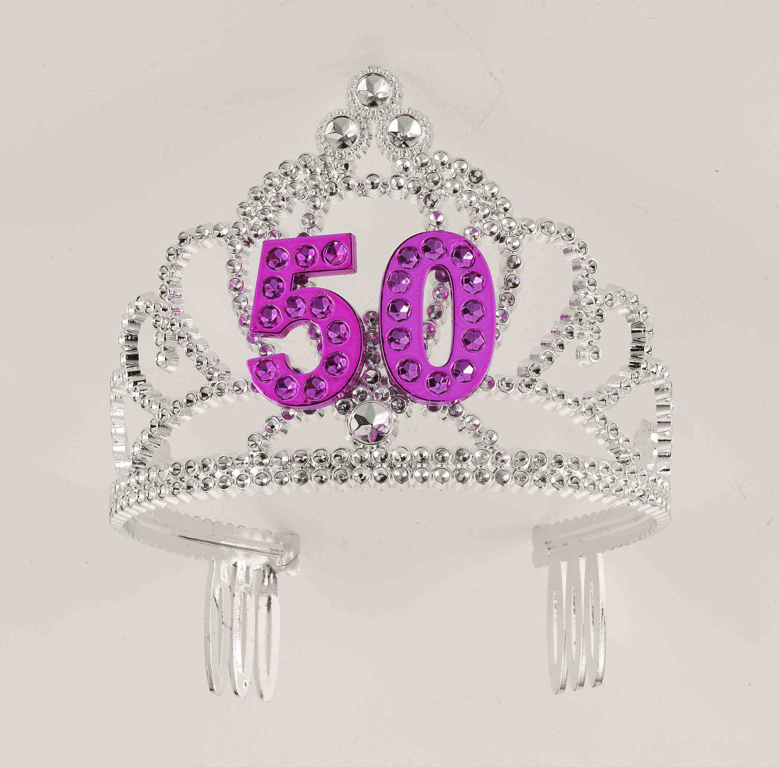 50th Birthday Princess Tiara Crown Party Princess Plastic Tiara