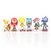 Sonic The Hedgehog Figures 6 Pcs Set Pvc Action Characters Toys 5Cm 7Cm