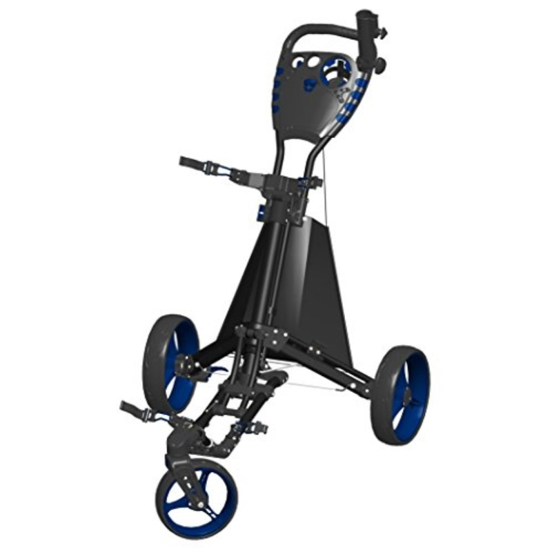 Spin It Golf Products Easy Drive Golf Push Cart, Black Blue by