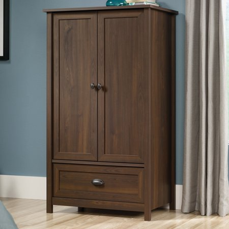Sauder County Line Armoire 2 Door Walnut Armoire