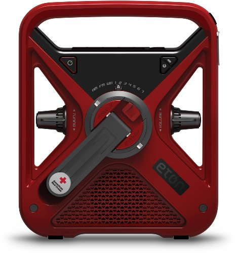 Eton FRX3 Weather Alert Radio, American Red Cross Red