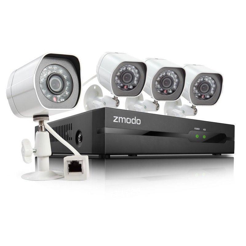 Zmodo 4 CH 4 1st Gen 720p Camera sPoE Security System w/500GB HDD, Remote Access