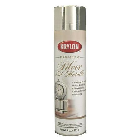 Krylon Premium Silver Foil Metallic Spray Paint, 8 Oz.