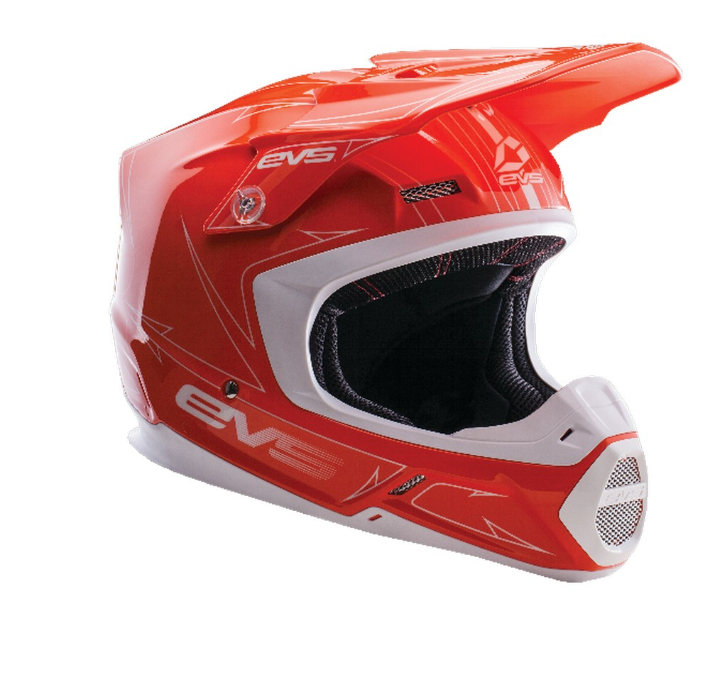 EVS T5 Pinner MX Offroad Helmet Hi-Viz Orange/White