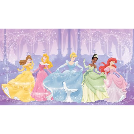 Roommates perfect princess xl wall mural for Disney princess ballroom wall mural