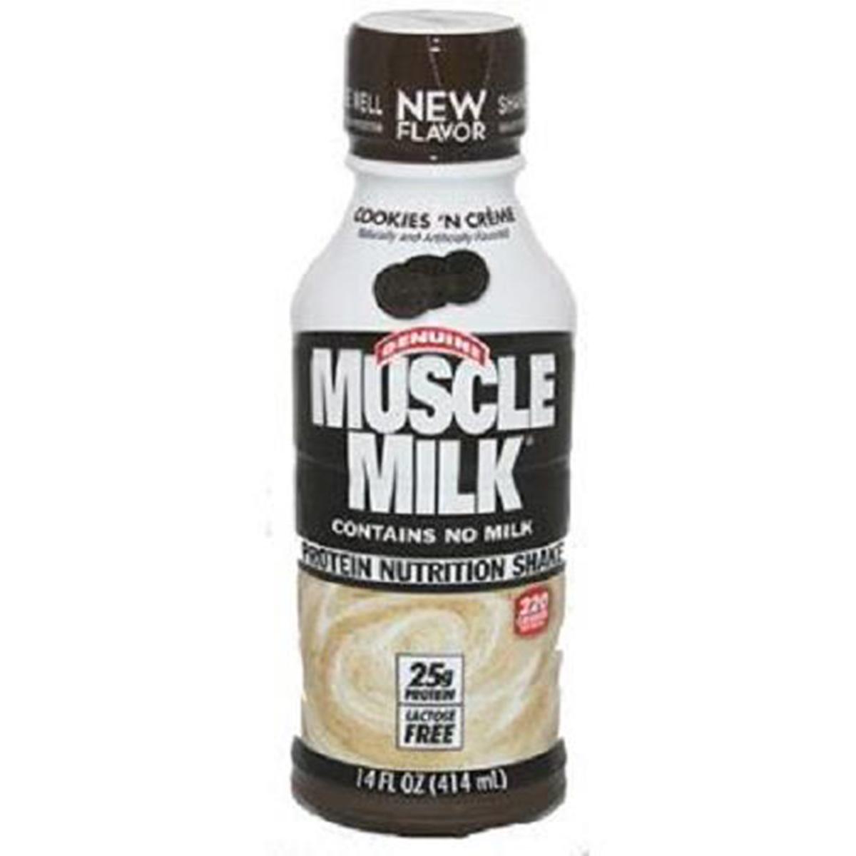Muscle Milk Cookies 'N Cream Protein Nutrition Shake, 14 oz