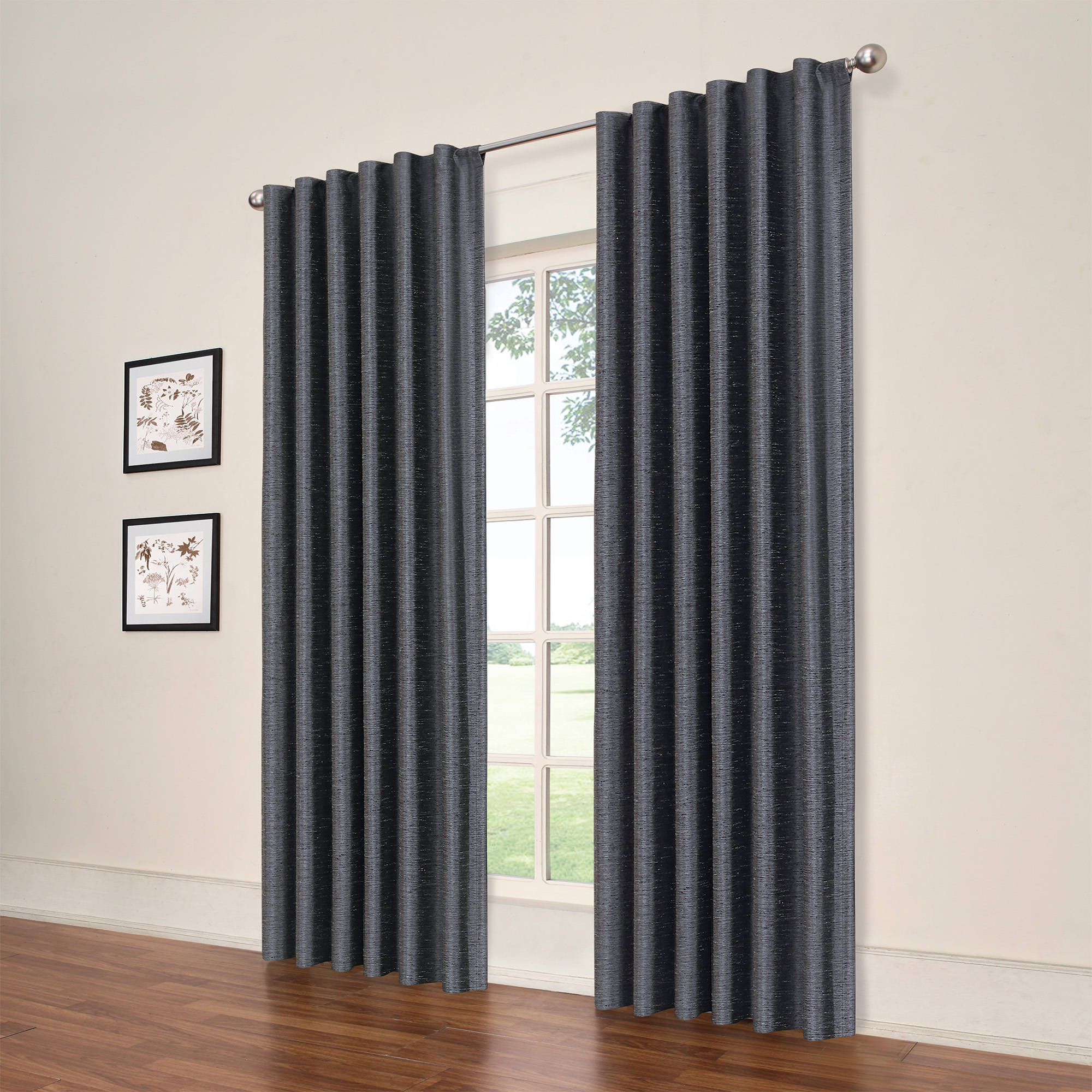 eclipse symphony blackout window curtain panel - walmart