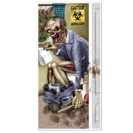 The Holiday Aisle Halloween Zombie Restroom Door - Cute Halloween Door Ideas