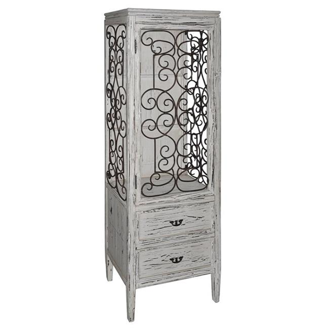 Crestview Collection CVFZR1511 21.5 x 15 x67.75 in. Santa Rosa Distressed Metal and Wood Cabinet