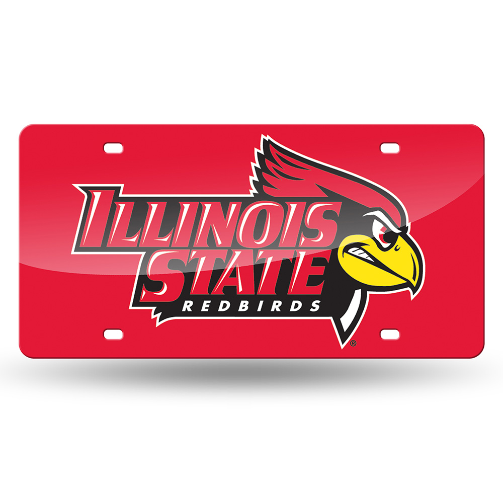 Illinois State Redbirds NCAA Laser Cut License Plate Tag