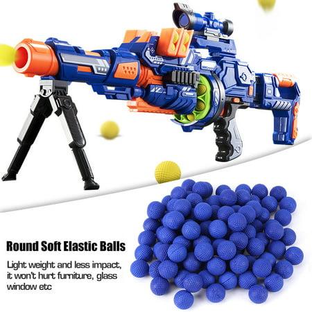 Yosoo Round Soft Elastic Balls, Rounds Soft Elastic Balls For  Rival Zeus Apollo,100pcs Rounds Soft Elastic Balls For Rival Zeus Apollo Toy Compatible Gun Bullet (Bullet Rounds Blue)