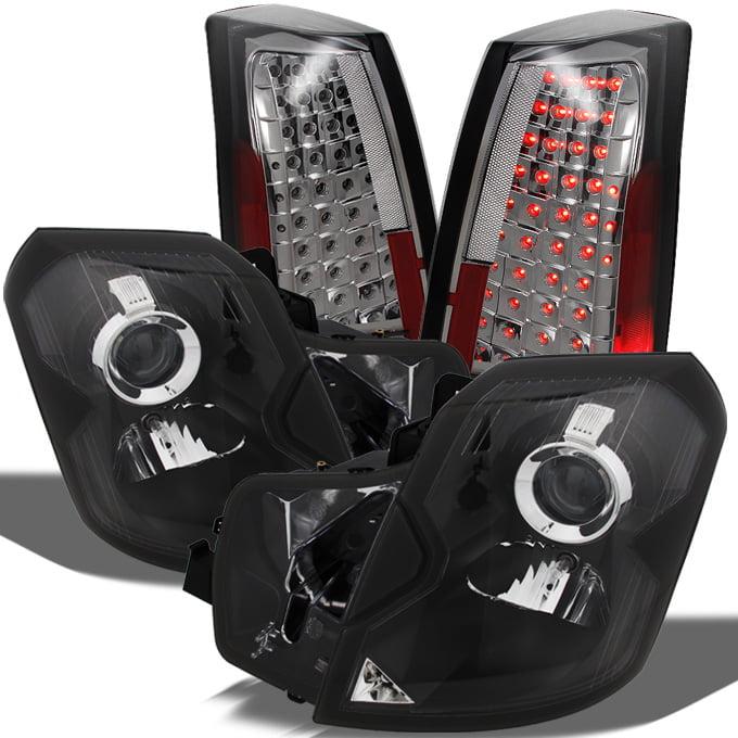 Fit 03-07 Cadillac CTS Black Headlights + Smoke LED Tail