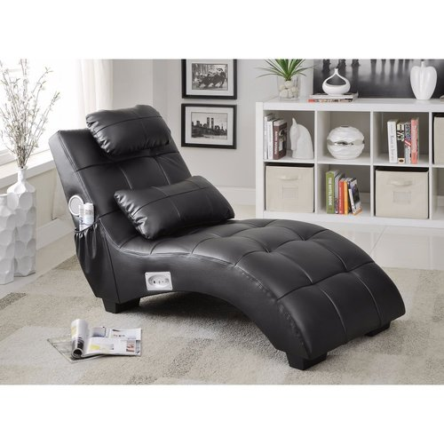 Latitude Run Maresova Leather Chaise Lounge