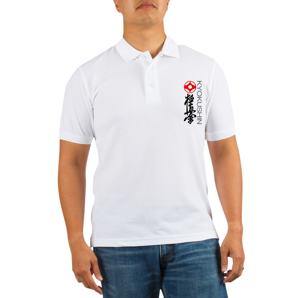 CafePress - Stylish Kyokushin Golf Shirt - Golf Shirt, Pique Knit Golf Polo