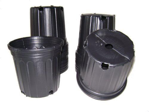 5 Pack 1 Gallon Premium Nursery Pot