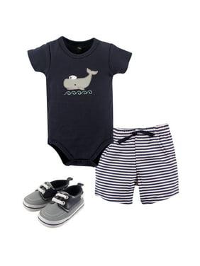Hudson Baby Boy Bodysuit, Shorts and Shoes