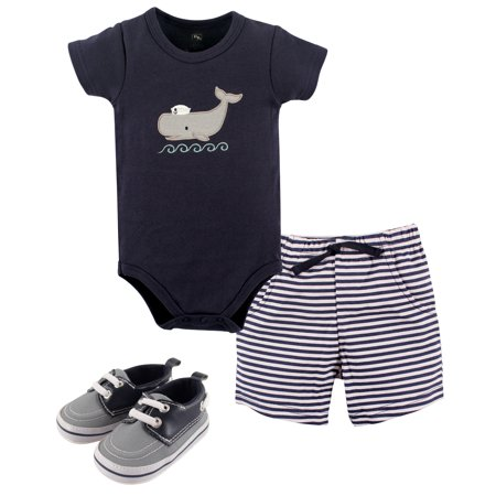 Boy Bodysuit, Shorts and Shoes (Halloween Outfits 0-3 Months)