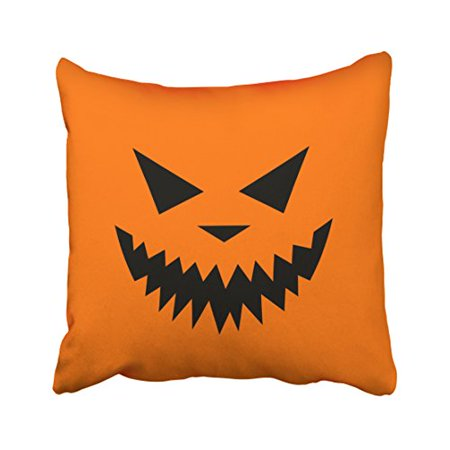 WinHome Decorative Pillowcases Halloween Scary Pumpkin Throw Pillow Covers Cases Cushion Cover Case Sofa 18x18 Inches Two Side](Halloween Pumpkin Designs Scary)