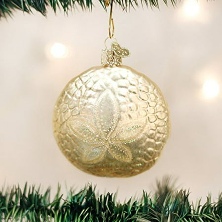Old World Christmas Beach Sand Dollar Glass Ornament 12156 FREE BOX Decoration - Dollar Decorations