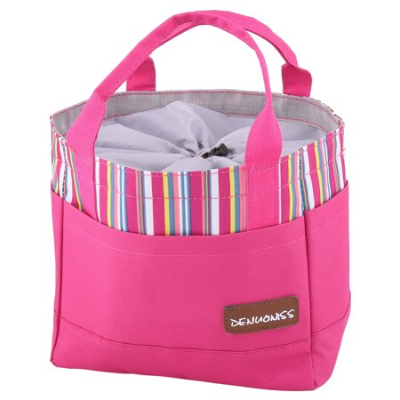 Travel Outdoor Oxford FabricPortable Food Picnic Lunch Drink Warmer Cooler Tote Bag Holder Fuchsia for $<!---->
