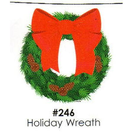Holiday Wreath Cake Decoration Edible Frosting Photo Sheet