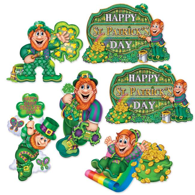 Beistle 30053 12 to 14 in. St Patricks Day Cutouts - Pack of 12 - image 1 of 1