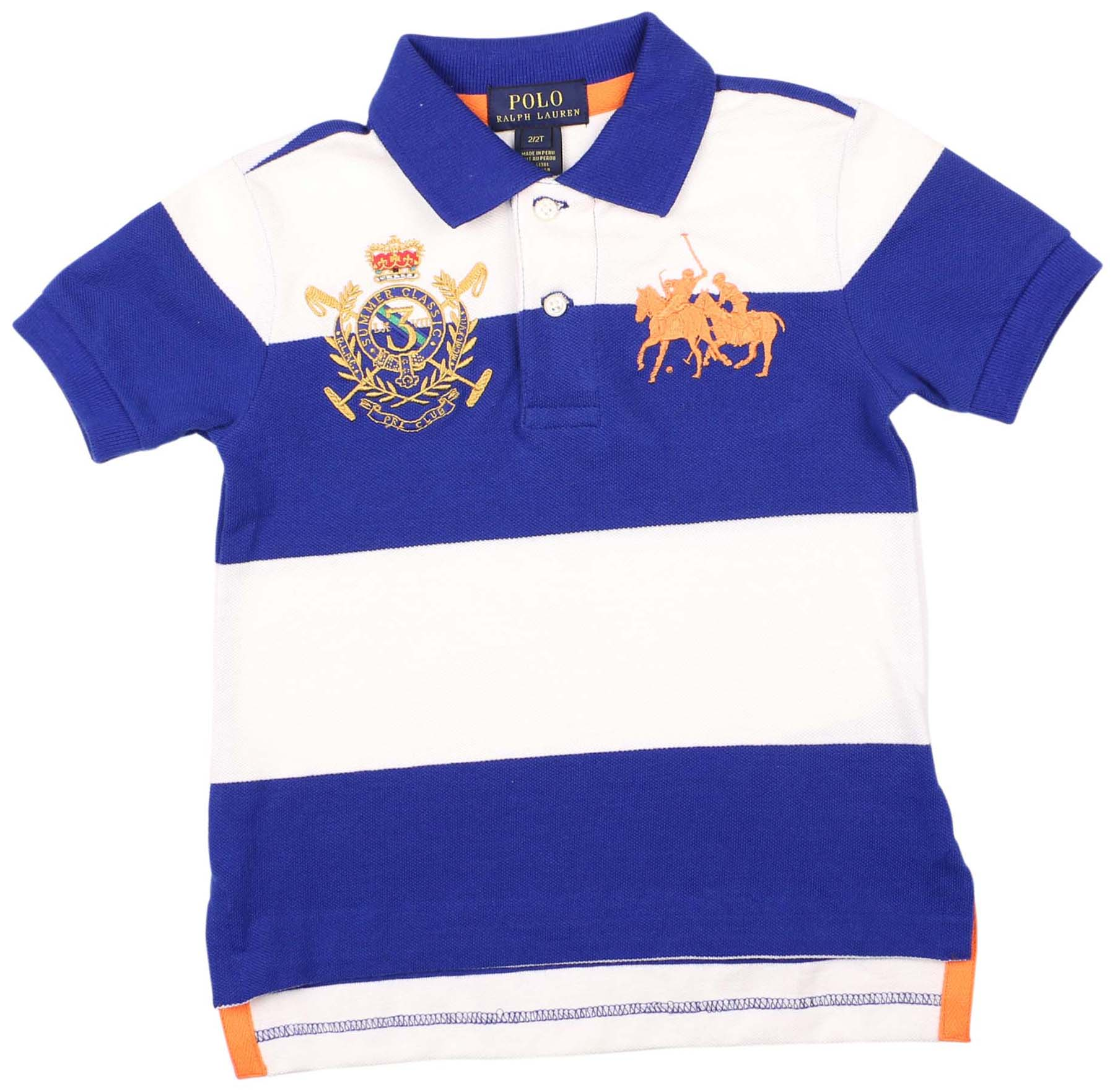 Polo Ralph Lauren Little Boys' (5-7) Dual Match Mesh Shirt-Sapphire Star