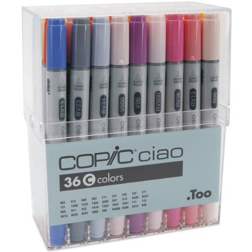 Copic Ciao Markers 36 Piece Set-Set C