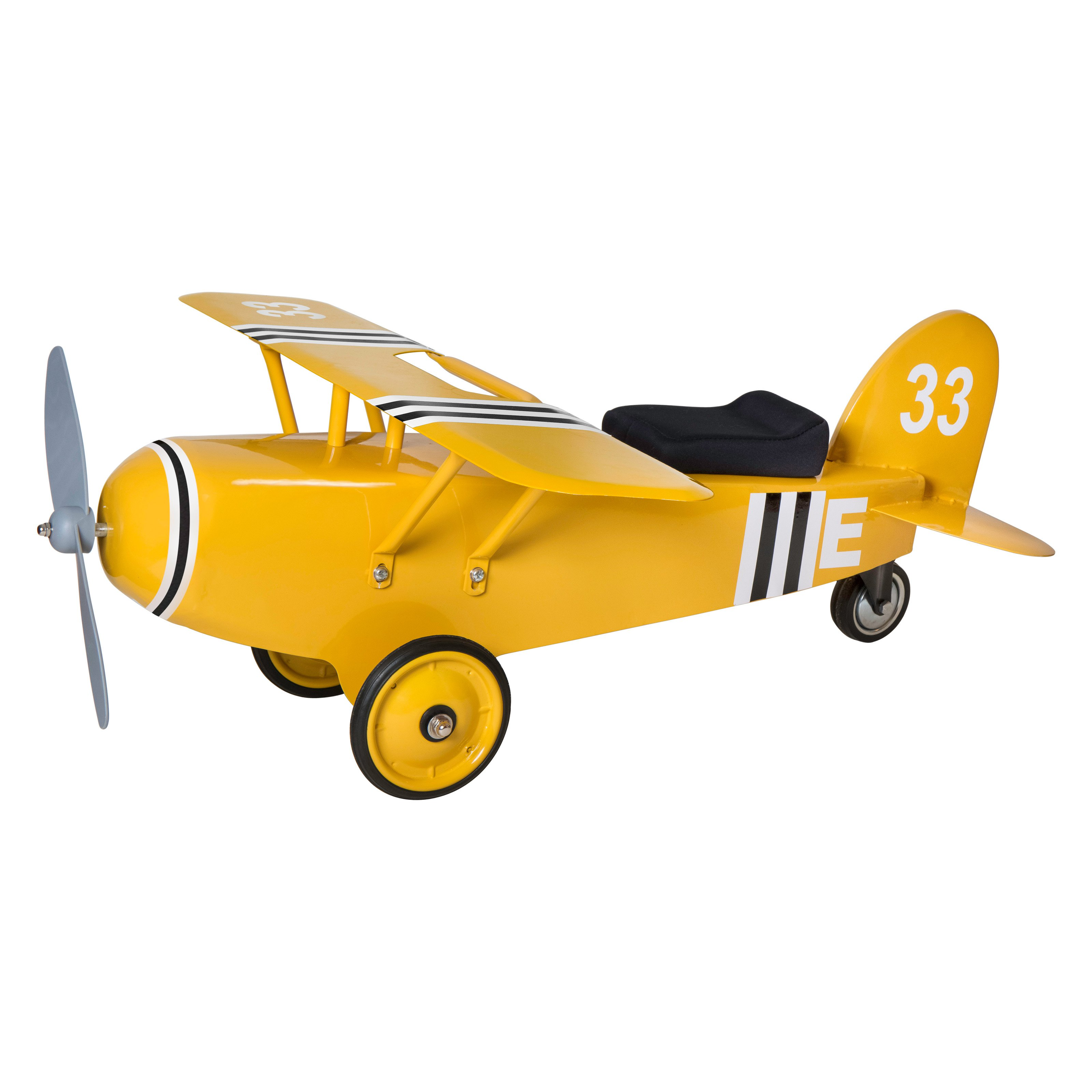 Morgan Cycle Airplane Yellow 33 Riding Push Toy by