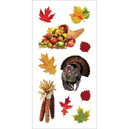 Simple Thanksgiving Crafts (paper house productions st-2226e photo real stickypix stickers, 2-inch by 4-inch, thanksgiving)