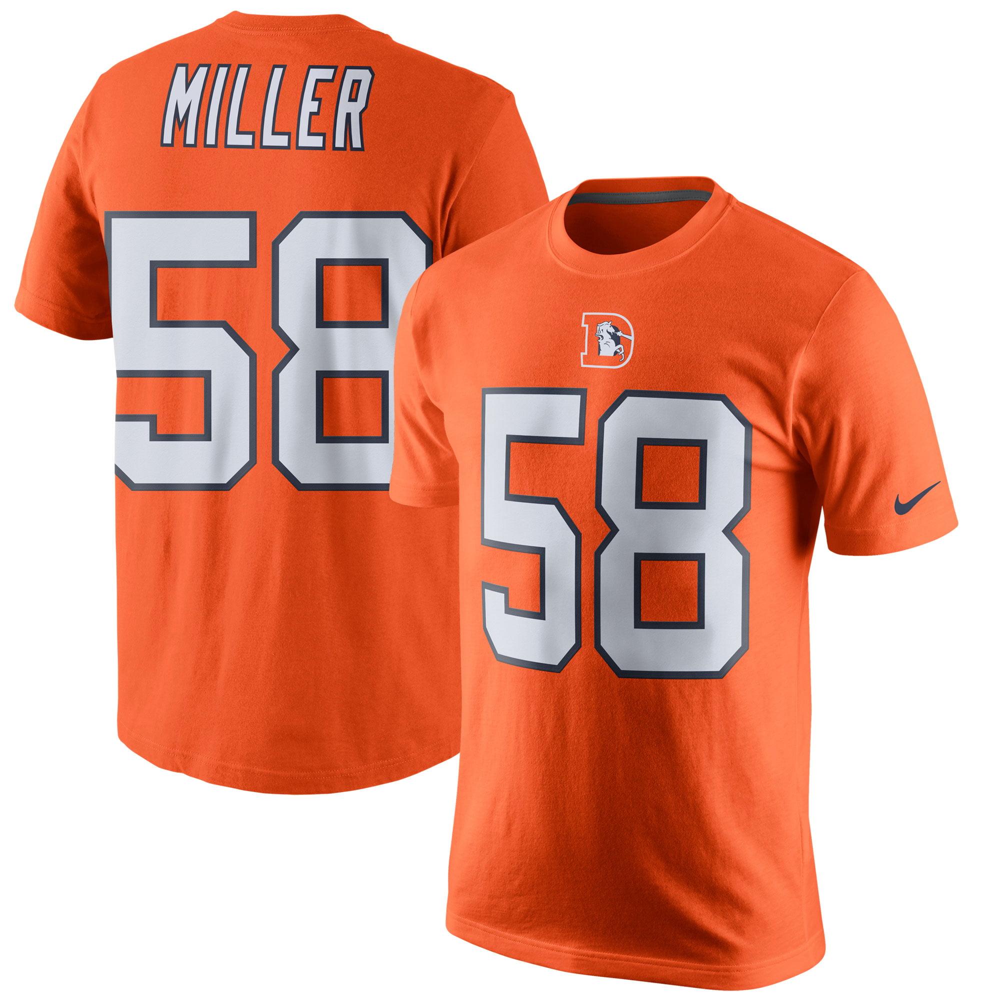 Von Miller Denver Broncos Nike Color Rush Player Pride Name & Number T-Shirt - Orange