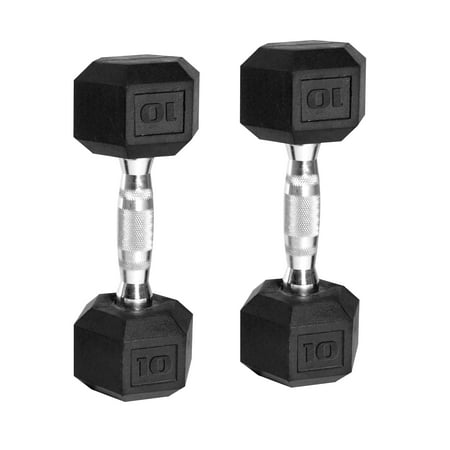 CAP Barbell Coated Hex Dumbbells, Set of 2 10-120lbs