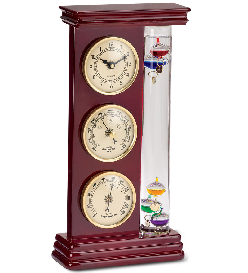 Galileo Weather Station with Clock, Barometer and Thermometer