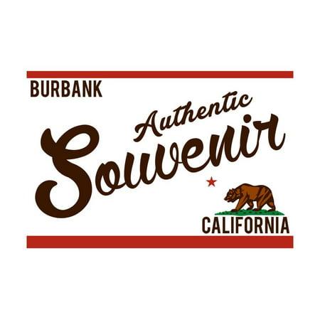 Burbank, California - Authentic Souvenir Print Wall Art By Lantern Press - Halloween In Burbank California
