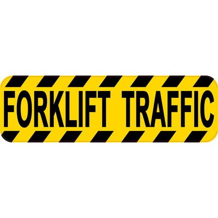 10in x 3in Forklift Traffic Sticker Car Truck Vehicle Bumper Decal