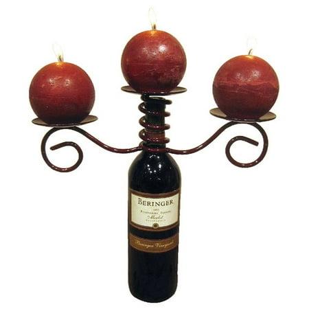 Metrotex Designs Industrial Evolution Three Pillar Candleholder Bottle Topper ()