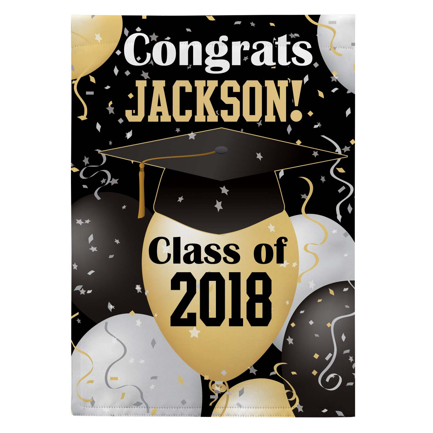Personalized Happy Graduation Garden Flag, Available with or without Stake