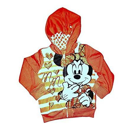 [P] Disney Toddler Girls' Minnie Mouse Fashion Sweat Shirt Hoodie (Toddler Girls Hoodie)