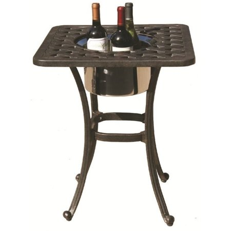Darlee Series 30 21 Quot Square Patio End Table In Antique Bronze Walmart Com